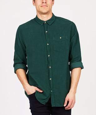 Rollas Men At Work Cord Shirt Green