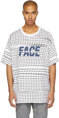 Facetasm White and Black Oversized Dot Face T-Shirt