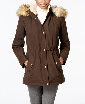 Jones New York Faux-Fur-Trim Anorak $200 thestylecure.com