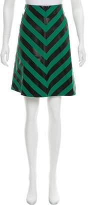 Jonathan Saunders Chevron A-Line Skirt
