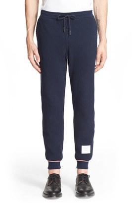 Men's Thom Browne Waffle Knit Sweatpants $580 thestylecure.com