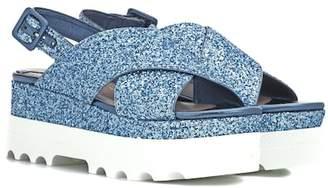 Miu Miu Platform glitter sandals