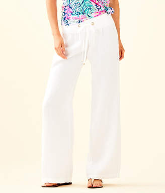 "Lilly Pulitzer Womens 33"" Linen Beach Pant"