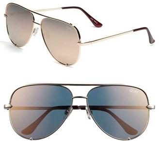 Quay Australia x Desi Perkins 'High Key' 62mm Aviator Sunglasses $60 thestylecure.com