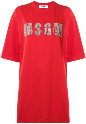 MSGM long branded T-shirt