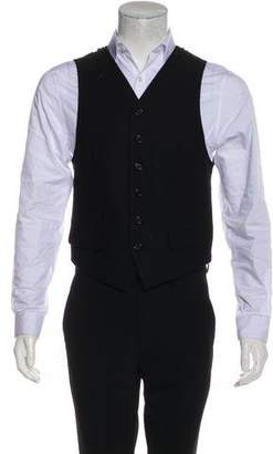 Ann Demeulemeester Embroidered Wool-Blend Suit Vest