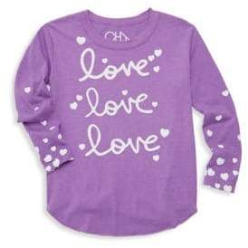 Chaser Little Girl's & Girl's Love Love Love Tee