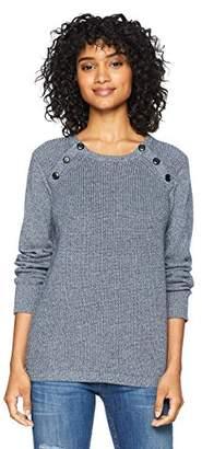 Cable Stitch Women's Raglan Shaker Stitch Pullover Sweater