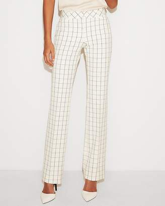 Express Low Rise Windowpane Barely Boot Editor Pant