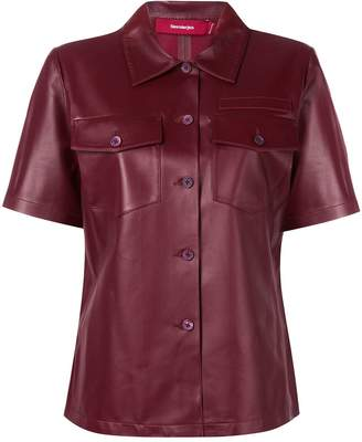 Sies Marjan fitted leather shirt