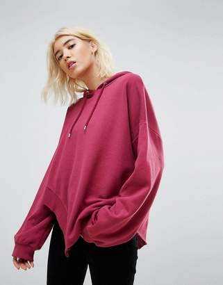 Asos Hoodie in Oversized Fit and Ravaged Detail