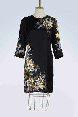 Erdem Emma long sleeves satin dress