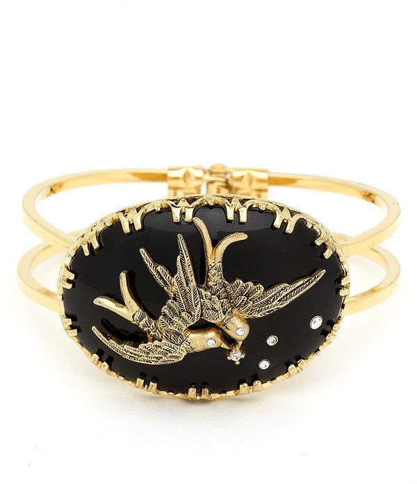 Juicy Couture 'Love Birds' Hinged Bangle Bracelet