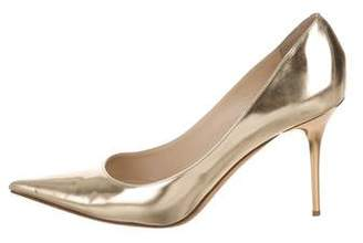 Jimmy Choo Metallic Leather Pointed-Toe Pumps