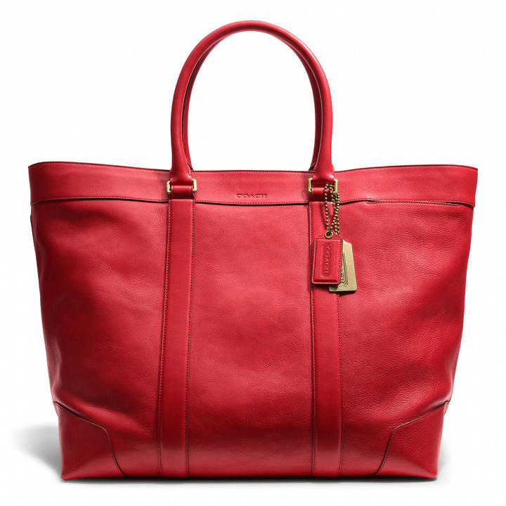 Coach Bleecker Legacy Weekend Tote In Leather