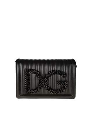 Dolce & Gabbana Pochette In Quilted Nappa Leather Color Black