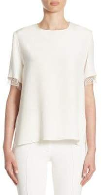 ADAM by Adam Lippes Silk Lace Tee