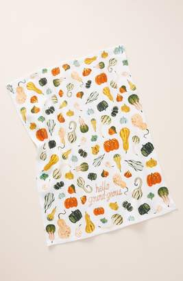 Anthropologie Quill & Fox Hello Gourd-Geous Dish Towel