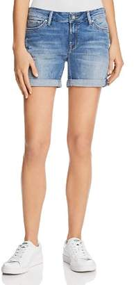 Mavi Jeans Pixie Mid Rise Denim Shorts in Light Distressed Vintage