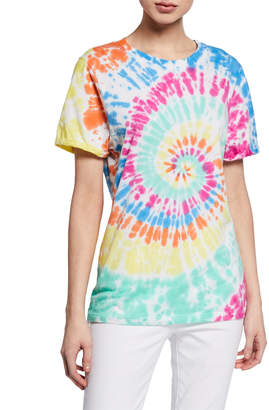 PRINCE PETER COLLECTION Spiral Tie-Dye Short-Sleeve Cotton Tee