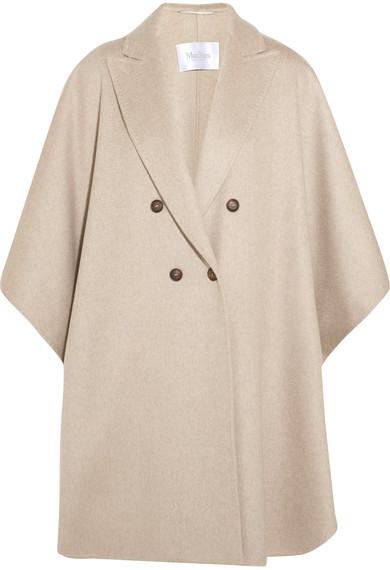 Max MaraMax Mara - Basilio Draped Cashmere Coat - Beige
