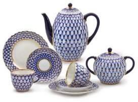 Imperial Porcelain Twenty-Piece Porcelain Coffee Set