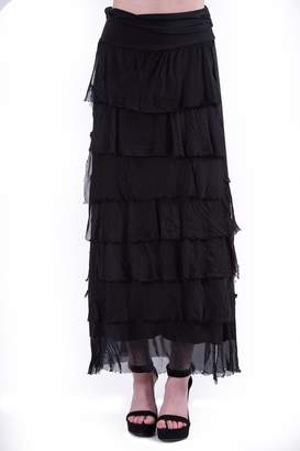 Catwalk Silk Layered Skirt