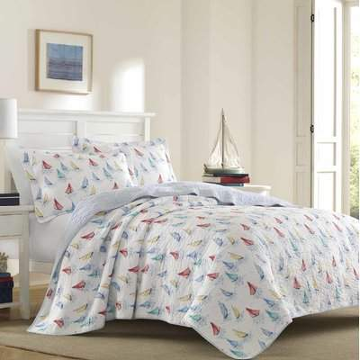 Wayfair Ahoy 100% Cotton Reversible Quilt Set