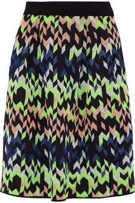 M Missoni Pleated Jacquard Skirt