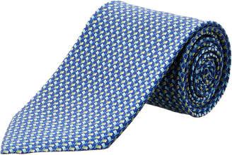 Salvatore Ferragamo Blue Flags Silk Tie