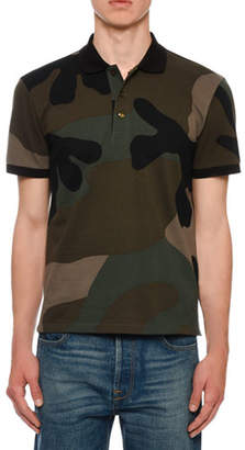 Valentino Men's Army Camo Polo Shirt