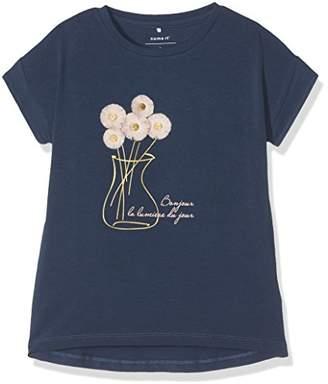 Name It Girl's Nitfeneo Ss Top Mini T-Shirt