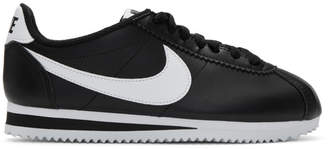 Nike Black Leather Classic Cortez Sneakers