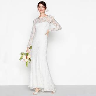 Debut Ivory Lace 'Eleanor' High Neck Long Sleeves Full Length Wedding Dress