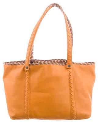Bottega Veneta Medium Nappa Leather Reversible Tote Orange Medium Nappa Leather Reversible Tote