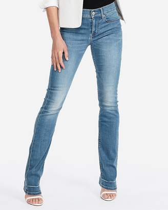 Express Petite Mid Rise Stretch Barely Boot Jeans