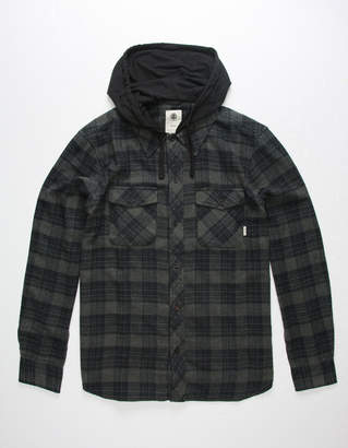 Element Alden Mens Hooded Flannel Shirt