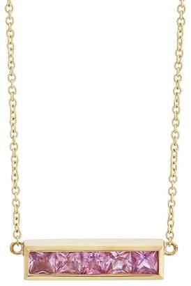 Jennifer Meyer Women's Pink Sapphire Bar Pendant Necklace