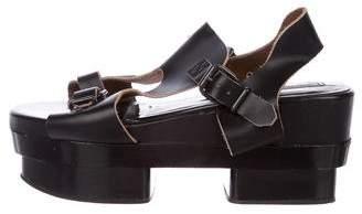 Acne Studios Leather Platform Sandals