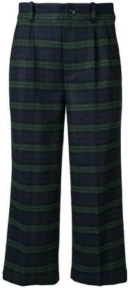 Bellerose tartan crop trousers