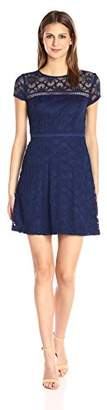 Jessica Simpson Women's Short Sleeved Lace Fit and Flare