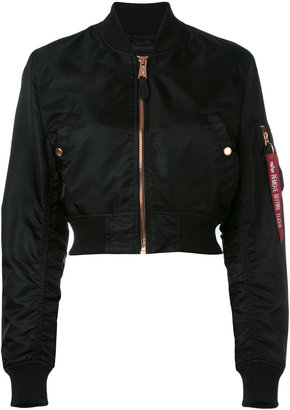 Alpha Industries cropped bomber jacket $195.80 thestylecure.com