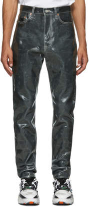 Doublet Black Coated Jeans