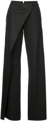 Monse front wrap flared trousers