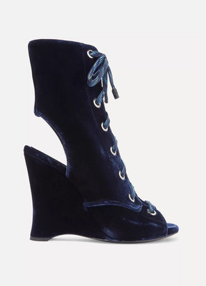db0298d77 Navy Lace Up Ankle Boots - ShopStyle UK