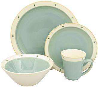 Asstd National Brand Sango America Newport 16-pc. Aqua Dinnerware Set