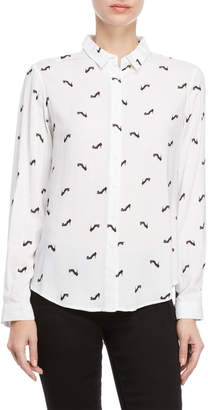 Per Se Printed Pointed Collar Shirt