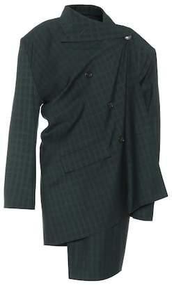 Balenciaga Pulled wool and mohair jacket