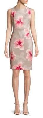 Calvin Klein Petite Floral Printed Sheath Dress