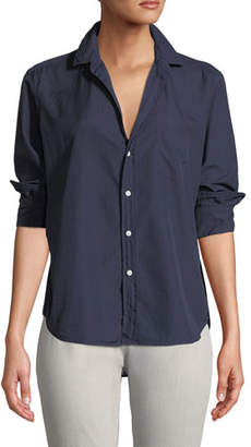 Frank And Eileen Long-Sleeve Button-Down Cotton Top